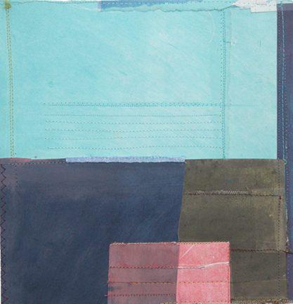 """Sewn Collage 5, 8.5""""W x 8.5""""H, 2005"""