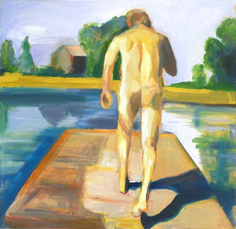 """Walk to Water #2, 2014, 36"""" x 36"""", oil painting"""
