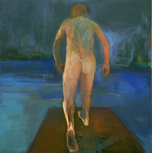 """Walk to Water #3, 2015, 36"""" x 36"""", oil painting"""